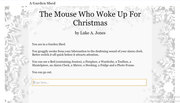 The Mouse Who Woke Up For Christmas